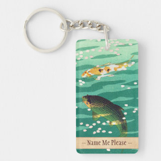Shiro Kasamatsu Karp Koi fish pond japanese art Key Chain