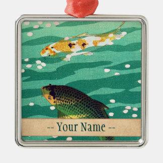 Koi pond ornaments keepsake ornaments zazzle for Japanese pond ornaments