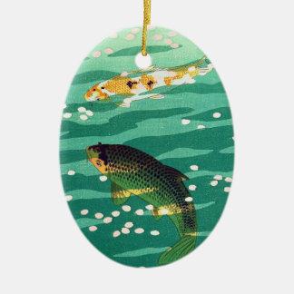 Shiro Kasamatsu Karp Koi fish pond japanese art Ornaments