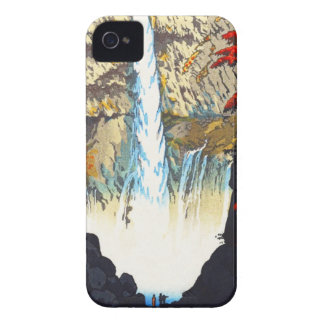 Shiro Kasamatsu Kegon Waterfall At Nikko hanga iPhone 4 Case