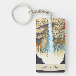 Shiro Kasamatsu Kegon Waterfall At Nikko hanga Key Chains