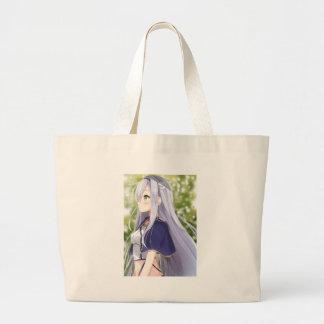Shiro Neko aka White Cat Large Tote Bag