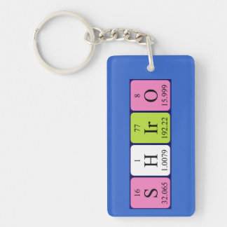 Shiro periodic table name keyring keychains