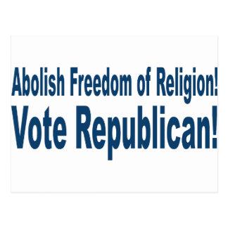 shirt_abolish_freedom_of_religion postcard