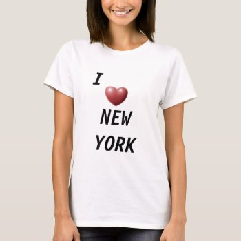 "Shirt Baby Doll  ""i  *  New York  Beige by creativeconceptss at Zazzle"