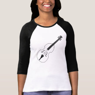 """Shirt - """"BASS"""" Double Bass and Clef"""