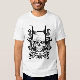 Shirt_BlackWhiteSkull_GrayFadeSkull T-Shirt