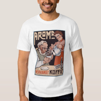 Shirt: Coffee Ad: Aroma Vergangt Koffie Tee Shirt