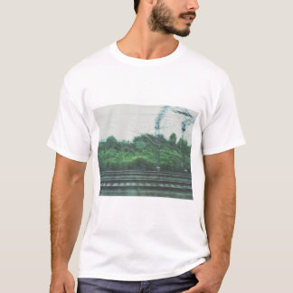 Shirt depicting the feeling of being on a train