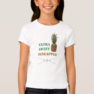 shirt for girls with pin Apple imprint & writing