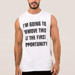 shirt for taking off sleeveless tee
