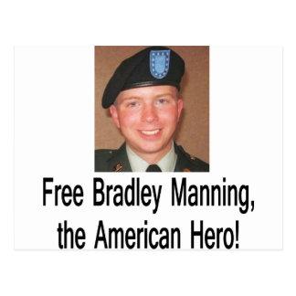 shirt_free_bradley_manning postcard