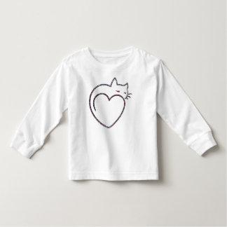 "Shirt long mango childish ""Heart Cat """