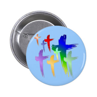 SHIRT_manycrosses Pinback Button