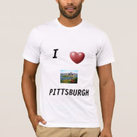 SHIRT  MENS  I * PITTSBURGH  GREY