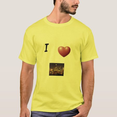 Shirt  Mens  I * Pittsburgh Stone Green T