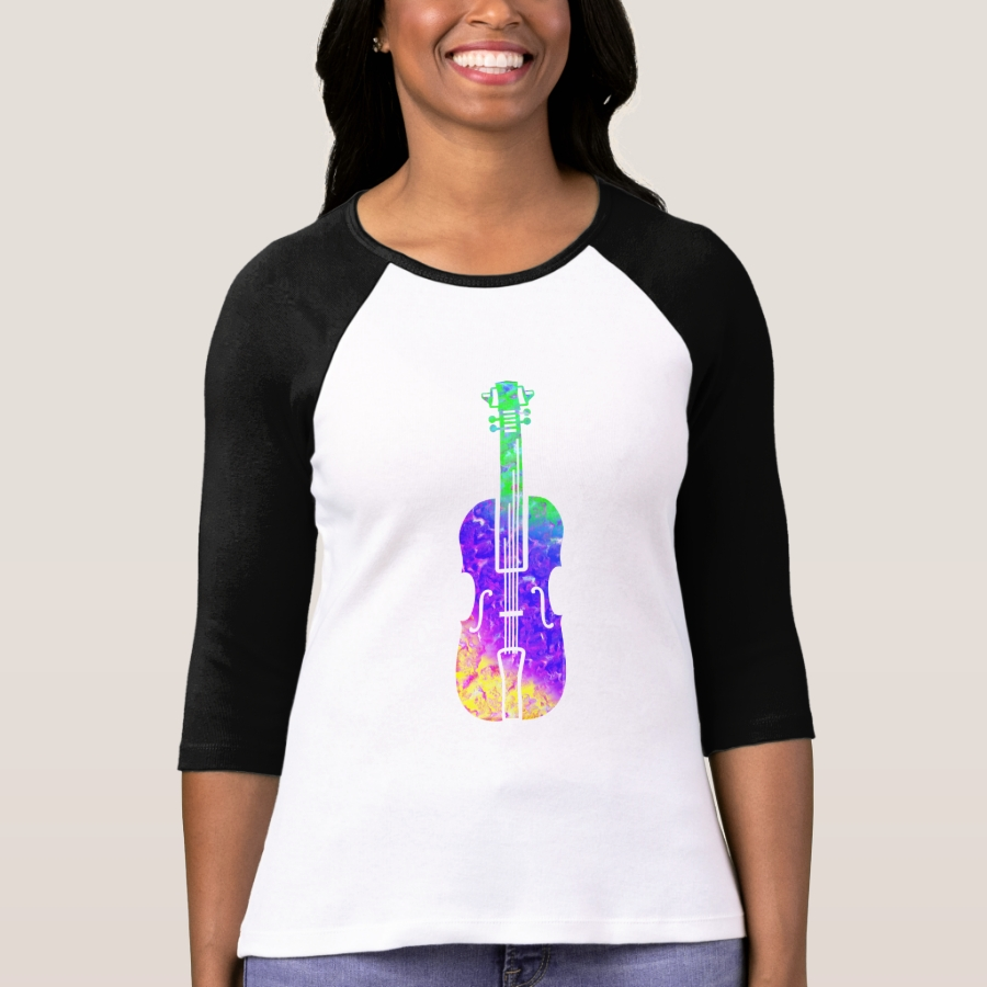 Shirt mit Geige - Best Selling Long-Sleeve Street Fashion Shirt Designs