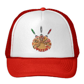 Shirt Pizza on the cutting board Mesh Hat