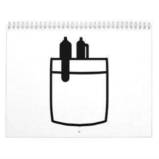 Shirt pocket pens calendar