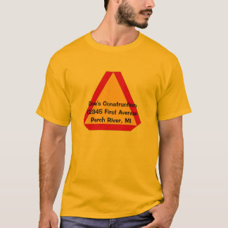Shirt Slow Moving Sign Farm Construction Business