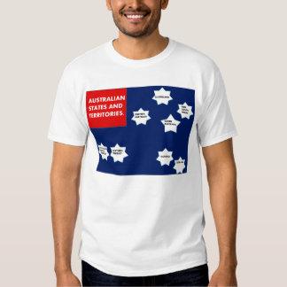 shirt with australian states on flag.