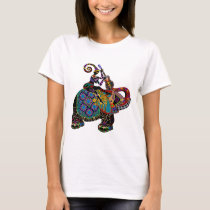 Shirt with colorful Elephant