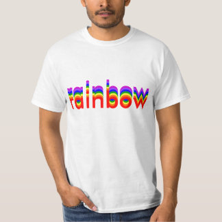 Shirt with Editable Text that Becomes a Rainbow