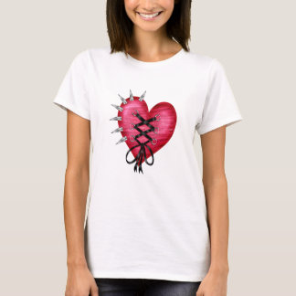 Shirt with Heart in Punk Style
