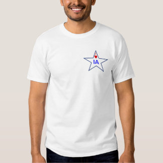 SHIRT WITH I HEART IA IN A STAR.