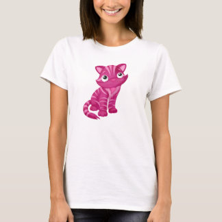 Shirt with pink kittens