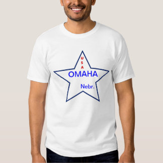 SHIRT WITH USA AND OMAHA IN A STAR.