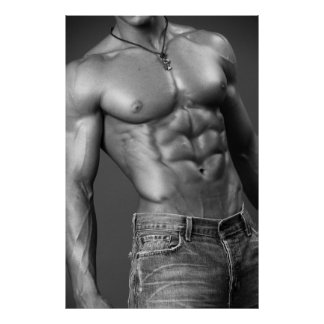 Shirtless Male In Jeans Poster