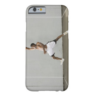 shirtless man jumping with a basketball barely there iPhone 6 case