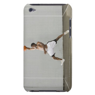 shirtless man jumping with a basketball iPod touch cover