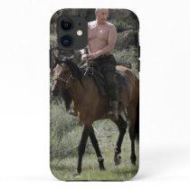 Shirtless Putin Rides a Horse iPhone 11 Case