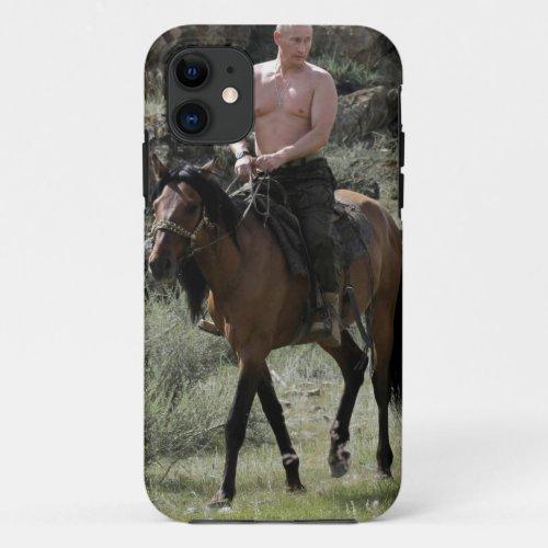 Shirtless Putin Rides a Horse Phone Case