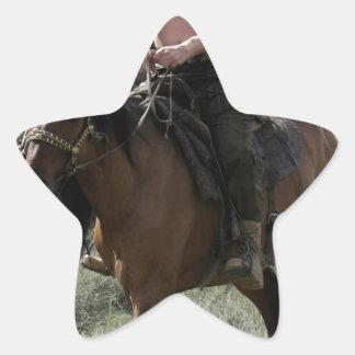 Shirtless Putin Rides a Horse Star Sticker