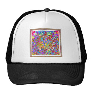 Shirts Abstract Angel Owl Bunny Graphic Waves Trucker Hat