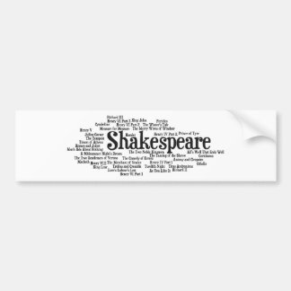 Shirts, Bags, etc. Inspired by Shakespeare's Plays Car Bumper Sticker