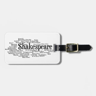 Shirts, Bags, etc. Inspired by Shakespeare's Plays Luggage Tags