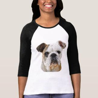 Shirts del dogo de señora inglesa camiseta