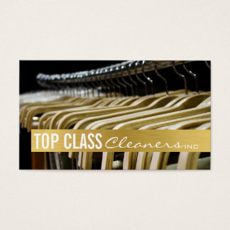 Shirts Hanger Cleaners Inc Dry Cleaning Business Card