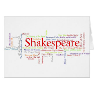 Shirts, Mugs, etc. Inspired by Shakespeare's Plays Card