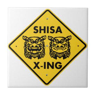 Shisa X-ing Ceramic Tile
