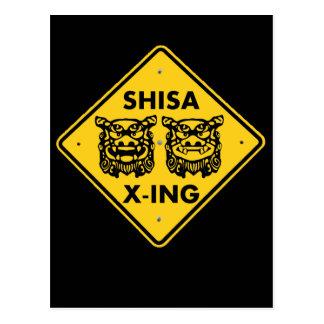 Shisa X-ing Postcard