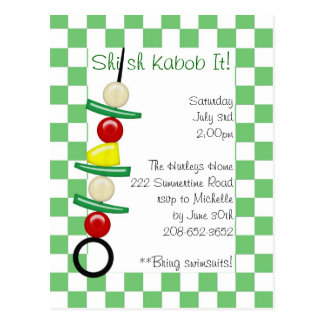 Shish Kabob It invitation Postcard