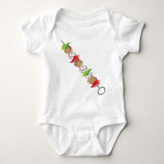 Shish Kabob vector Illustration clip-art Baby Bodysuit