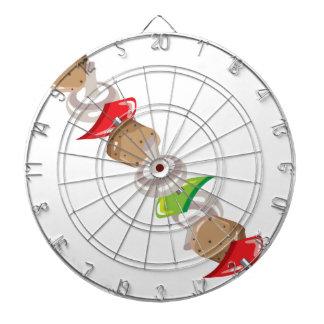 Shish Kabob vector Illustration clip-art Dartboard With Darts