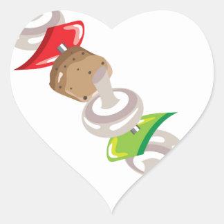 Shish Kabob vector Illustration clip-art Heart Sticker