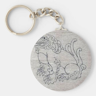 Shishi (lion) placed in front of shinto temples Uk Keychains